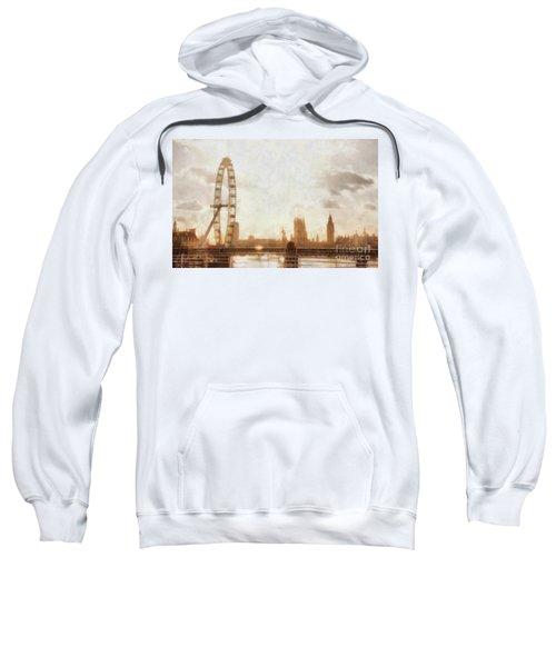 London Skyline At Dusk 01 Sweatshirt by Pixel  Chimp