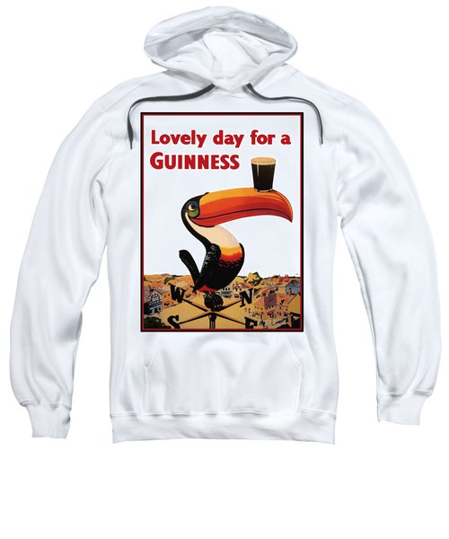 Lovely Day For A Guinness Sweatshirt by Georgia Fowler