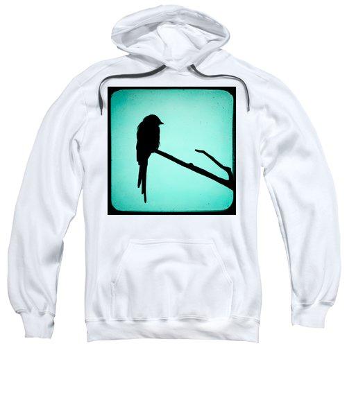 Magpie Shrike Silhouette Sweatshirt by Gary Heller