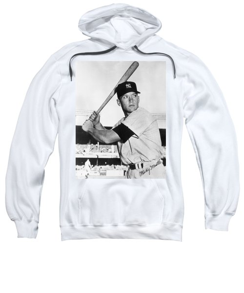 Mickey Mantle At-bat Sweatshirt by Gianfranco Weiss