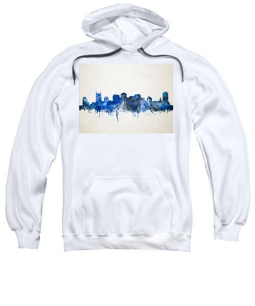 Nashville Skyline Watercolor 11 Sweatshirt by Bekim Art