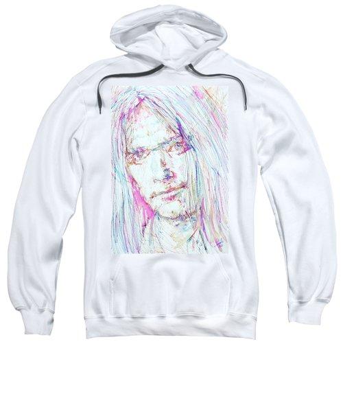 Neil Young - Colored Pens Portrait Sweatshirt by Fabrizio Cassetta