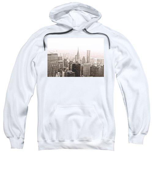 New York Winter - Skyline In The Snow Sweatshirt by Vivienne Gucwa