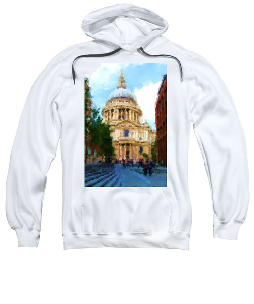 On The Steps Of Saint Pauls Sweatshirt by Jenny Armitage