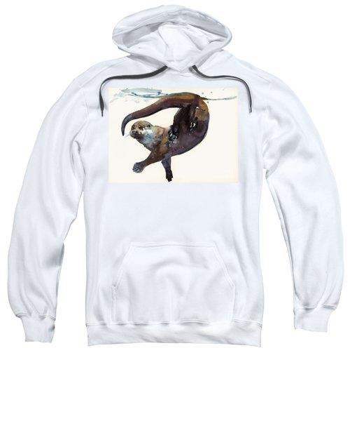 Otter Study II  Sweatshirt by Mark Adlington