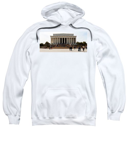 People At Lincoln Memorial, The Mall Sweatshirt by Panoramic Images