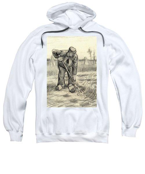 Potato Gatherer Sweatshirt by Vincent Van Gogh