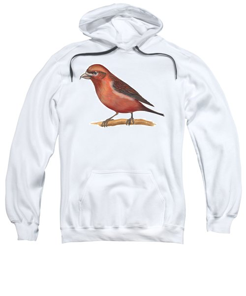 Red Crossbill Sweatshirt by Anonymous