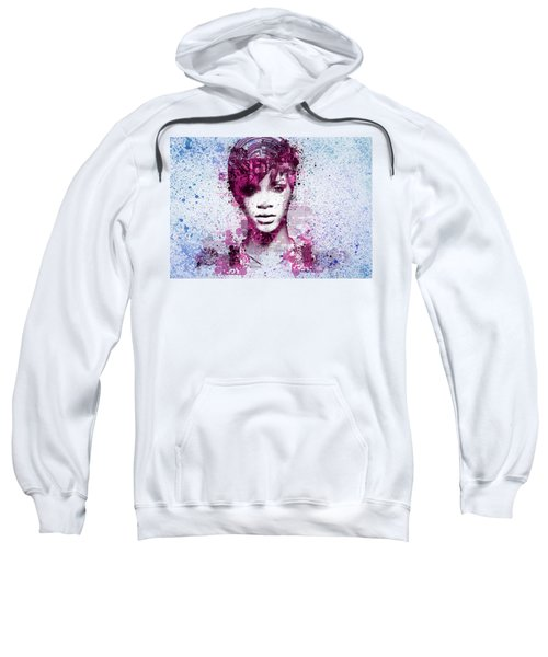 Rihanna 8 Sweatshirt by Bekim Art