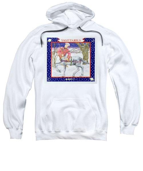Sagittarius Wc On Paper Sweatshirt by Catherine Bradbury