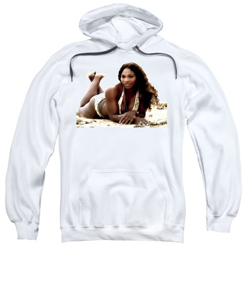 Serena Williams In The Sand Sweatshirt by Brian Reaves