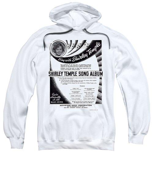 Shirley Temple Song Album Sweatshirt by Mel Thompson