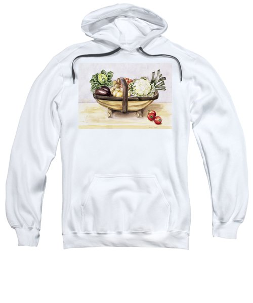 Still Life With A Trug Of Vegetables Sweatshirt by Alison Cooper