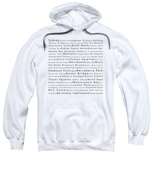 Sydney In Words White Sweatshirt by Sabine Jacobs