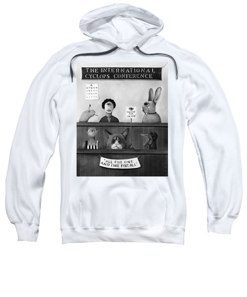 The International Cyclops Conference Edit 4 Sweatshirt by Leah Saulnier The Painting Maniac