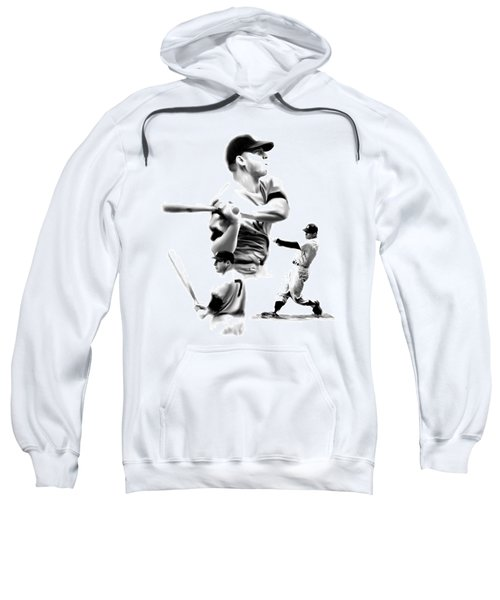The Mick  Mickey Mantle Sweatshirt by Iconic Images Art Gallery David Pucciarelli