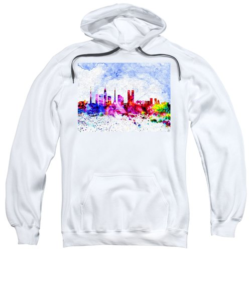 Tokyo Watercolor Sweatshirt by Daniel Janda