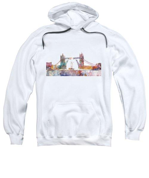 Tower Bridge Colorsplash Sweatshirt by Aimee Stewart