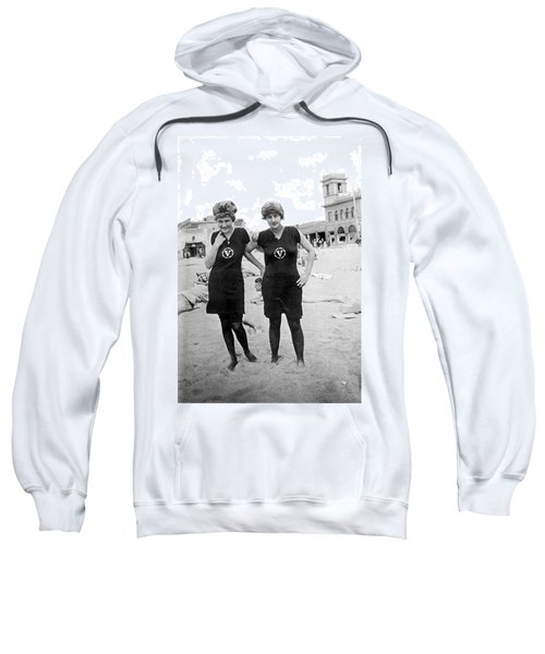 Two Girls At Venice Beach Sweatshirt by Underwood Archives