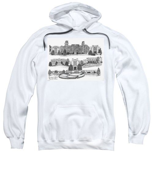 University Of Arkansas Fayetteville Sweatshirt by Liz  Bryant