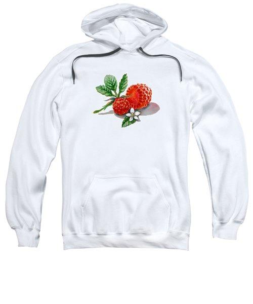 Artz Vitamins A Very Happy Raspberry Sweatshirt by Irina Sztukowski