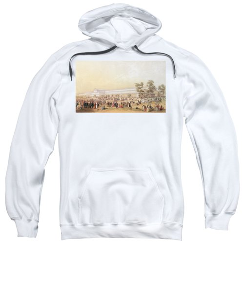 View Of The Crystal Palace Sweatshirt by George Baxter