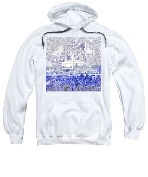 Washington Dc Skyline Abstract 3 Sweatshirt by Bekim Art