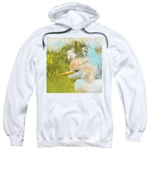 White Kingfisher Sweatshirt by Catf