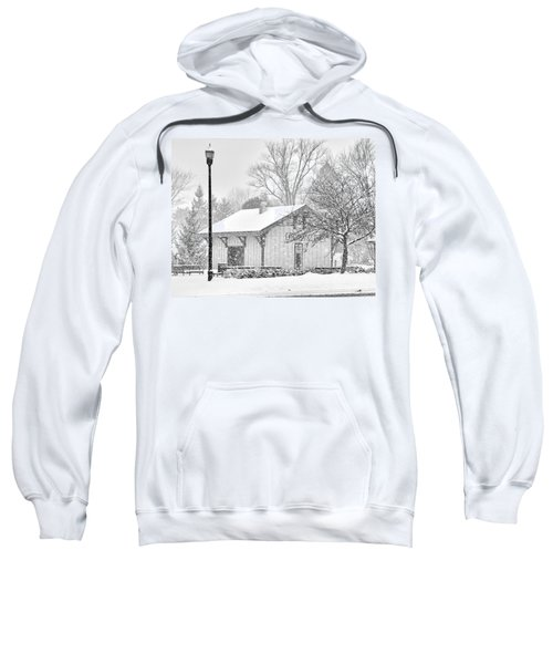 Whitehouse Train Station Sweatshirt by Jack Schultz