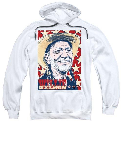 Willie Nelson Pop Art Sweatshirt by Jim Zahniser