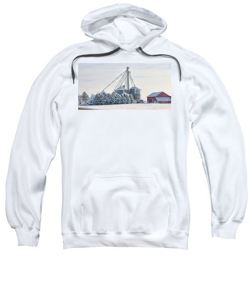 Winter Farm  7365 Sweatshirt by Jack Schultz