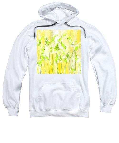 Yellow And Green Art Sweatshirt by Lourry Legarde