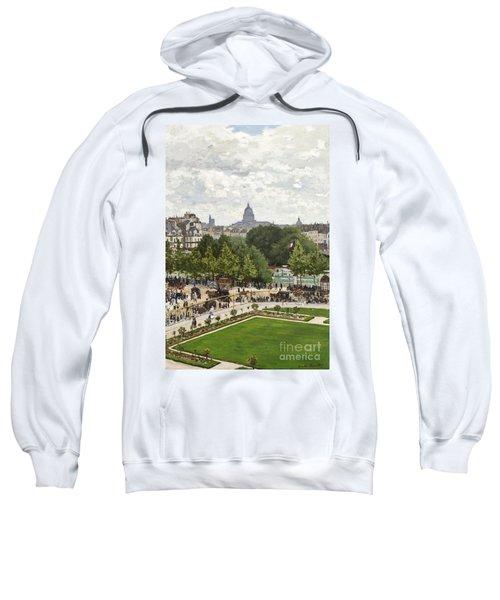 Garden Of The Princess Sweatshirt by Claude Monet