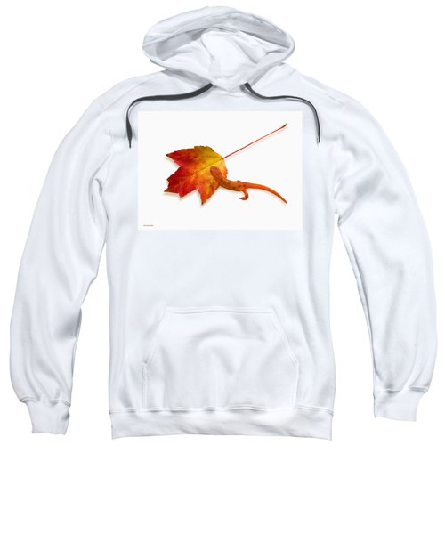 Red Spotted Newt Sweatshirt by Ron Jones