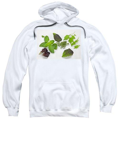 Salad Greens And Spices Sweatshirt by Joana Kruse