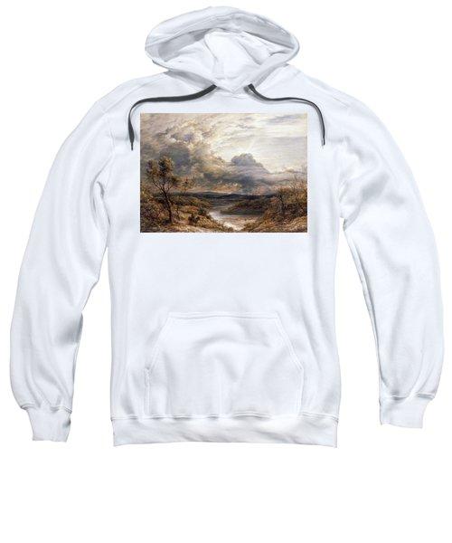 Sun Behind Clouds Sweatshirt by John Linnell