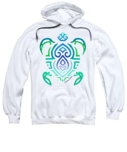 Tribal Turtle Sweatshirt by Heather Schaefer
