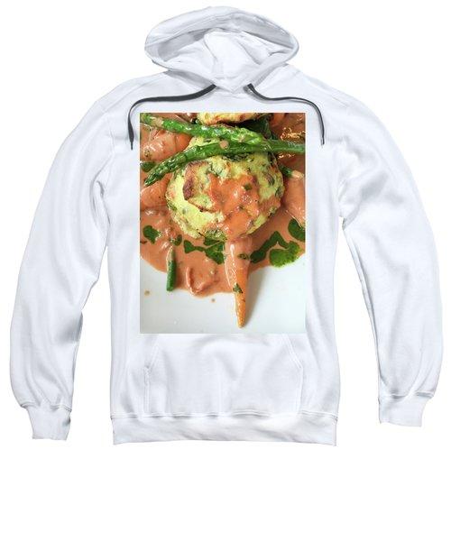 Asparagus Dish Sweatshirt by Tom Gowanlock