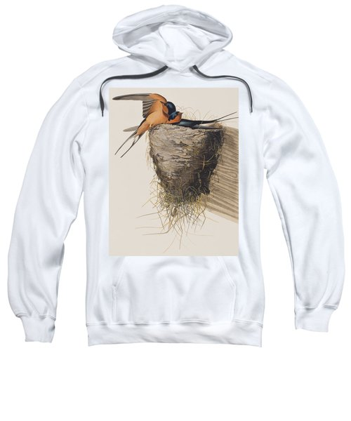 Barn Swallow Sweatshirt by John James Audubon