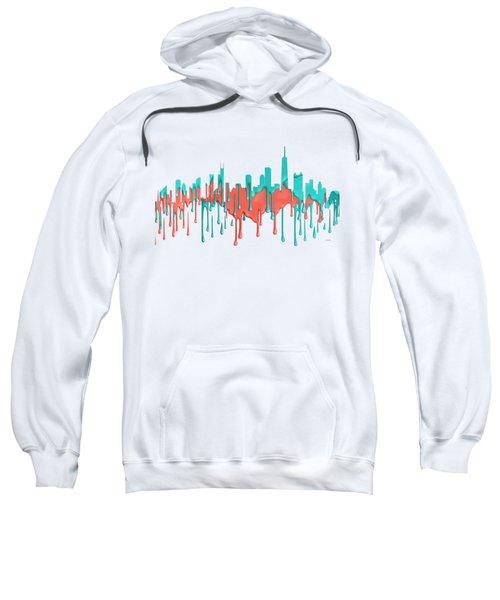 Chicago Illinios Skyline Sweatshirt by Marlene Watson