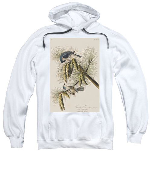 Crested Titmouse Sweatshirt by John James Audubon