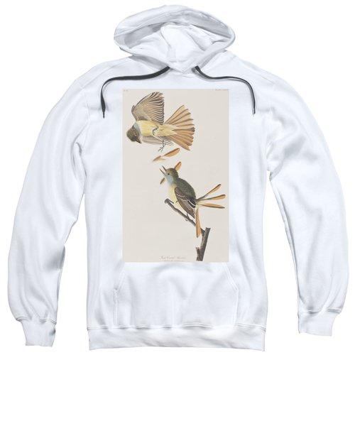 Great Crested Flycatcher Sweatshirt by John James Audubon