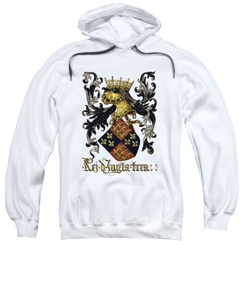 King Of England Coat Of Arms - Livro Do Armeiro-mor Sweatshirt by Serge Averbukh