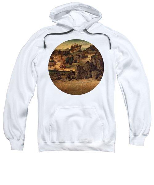 Landscape With Castles Sweatshirt by Bartolomeo Montagna