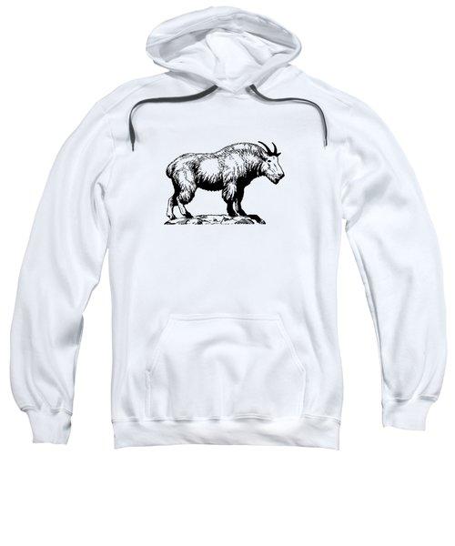 Mountain Goat Sweatshirt by Mordax Furittus