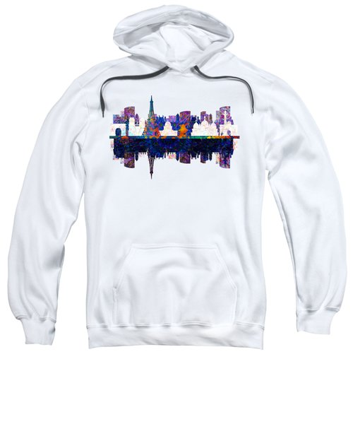 Paris France Fantasy Skyline Sweatshirt by John Groves