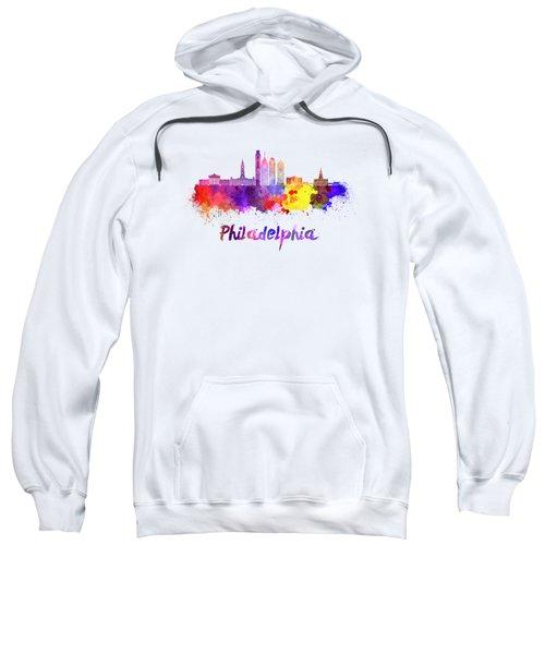 Philadelphia Skyline In Watercolor Sweatshirt by Pablo Romero