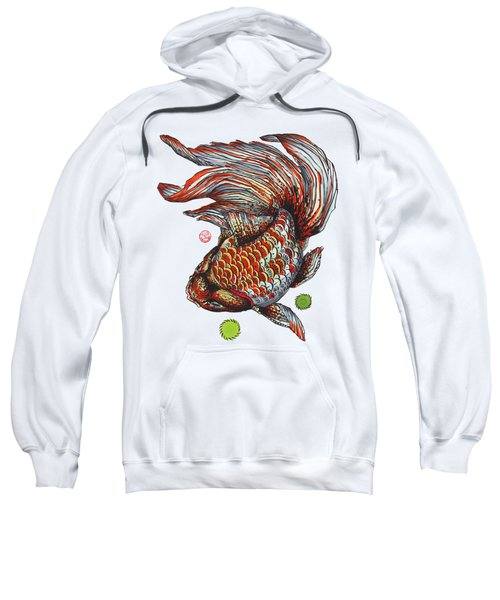 Ryukin Goldfish Sweatshirt by Shih Chang Yang