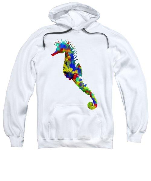 Seahorse Art Sweatshirt by Diana Van
