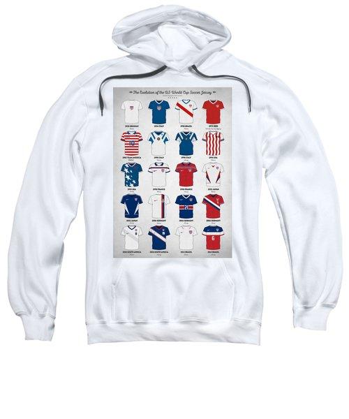 The Evolution Of The Us World Cup Soccer Jersey Sweatshirt by Taylan Apukovska